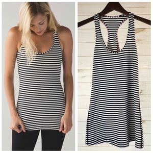 Lululemon Cool Racerback Tank Narrow Bold Stripes